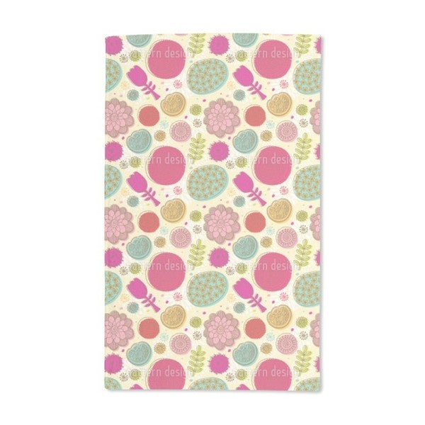 Doodle Flowers Hand Towel (Set of 2)