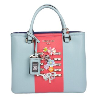 Nicole Lee Brielle Blue Colorblock Tote Bag