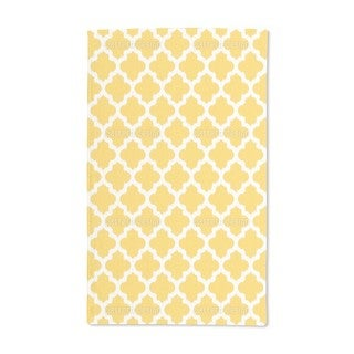 Unique Ikat Yellow Hand Towel (Set of 2)