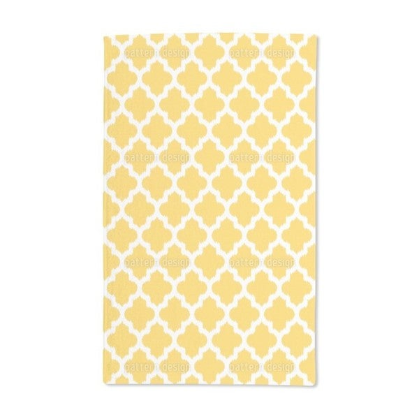 Unique Ikat Yellow Hand Towel (Set of 2)