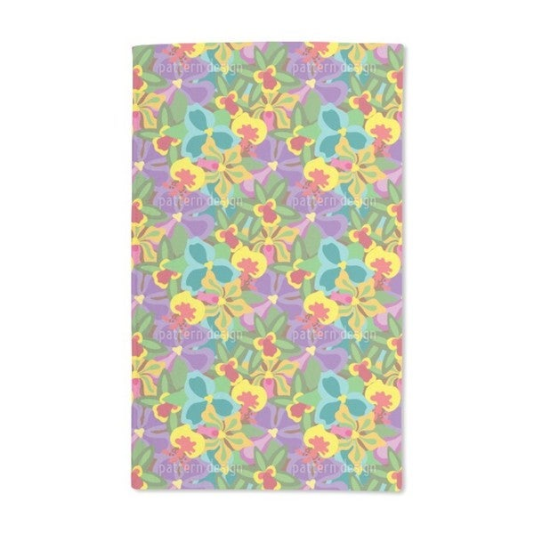 Colorful Orchid Hand Towel (Set of 2)