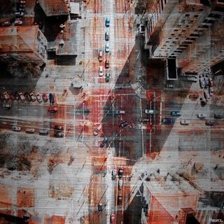 Parvez Taj - 'Midday Confusion' Painting Print on Brushed Aluminum