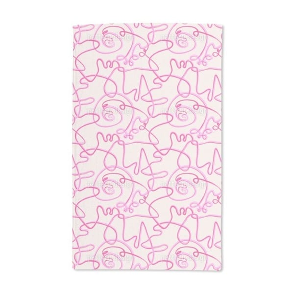 Action Painting Pink Hand Towel (Set of 2)
