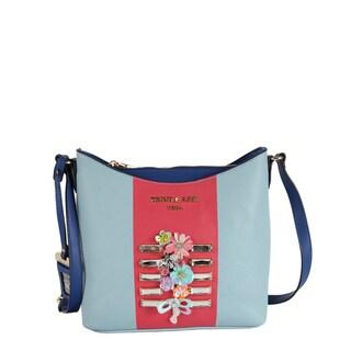 Nicole Lee Brielle Blue Colorblock Boston Handbag