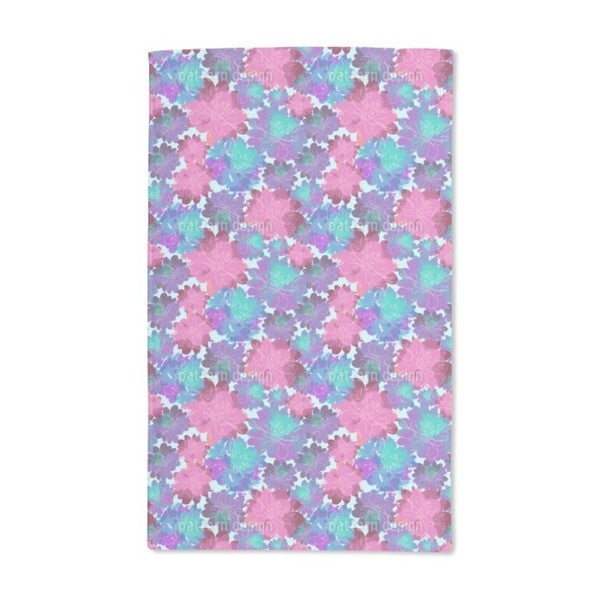 Sea of Flowers Hand Towel (Set of 2)