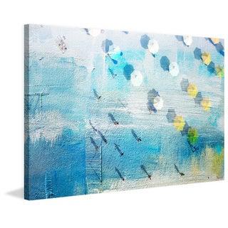 Parvez Taj - 'Shadows on the Beach' Painting Print on Wrapped Canvas