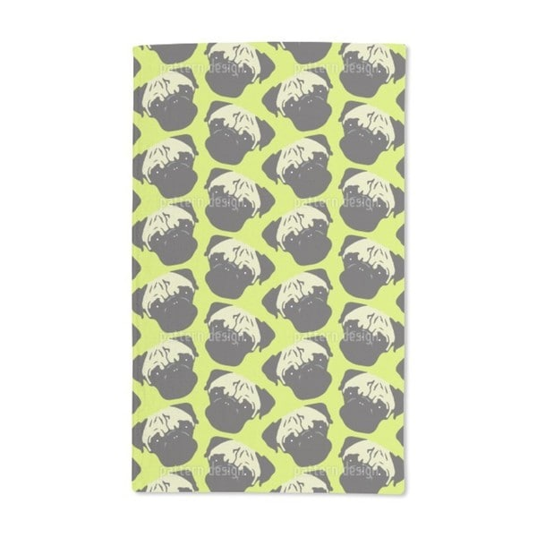 Puggy Pop Lime Hand Towel (Set of 2)