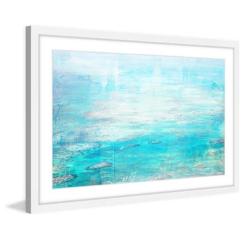 Handmade Parvez Taj - White Surf Framed Print