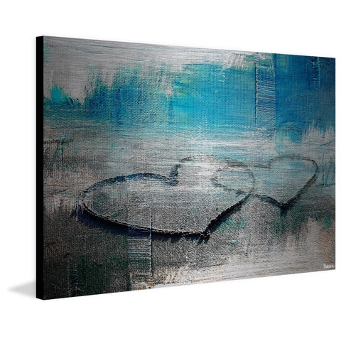 Parvez Taj - 'Hearts Connected' Painting Print on Brushed Aluminum
