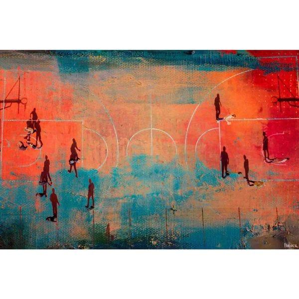 Parvez Taj - 'Court Shadows' Painting Print on Wrapped Canvas