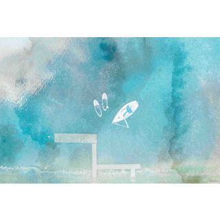 Parvez Taj - 'Out on the Lake' Painting Print on Wrapped Canvas