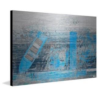 Parvez Taj - 'Faded Blue Pier' Painting Print on Brushed Aluminum