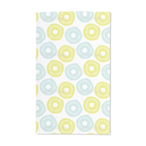 Sunshine Blue and Yellow Hand Towel (Set of 2)