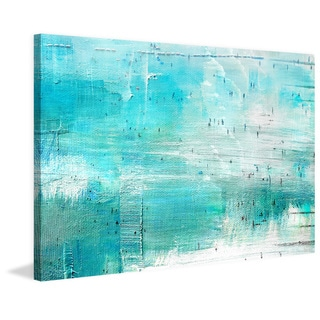 Parvez Taj - 'Aqua Surf' Painting Print on Wrapped Canvas