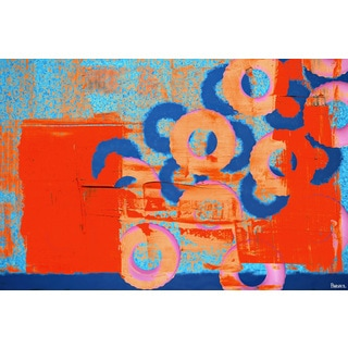 Parvez Taj - 'Donuts in Motion' Painting Print on Wrapped Canvas