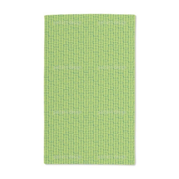 Leaf Green Retro Hand Towel (Set of 2)