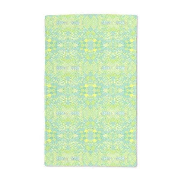 Filigree Network Lemon Hand Towel (Set of 2)