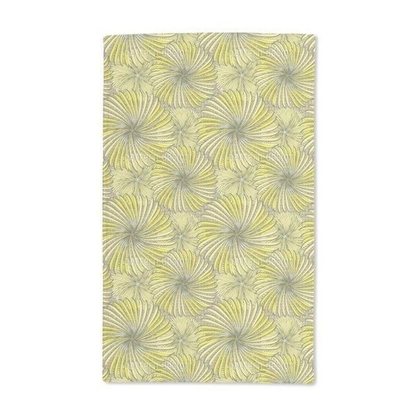 Turning Wheels Yellow Hand Towel (Set of 2)