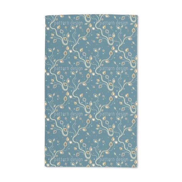 Ethno Branches Teal Hand Towel (Set of 2)