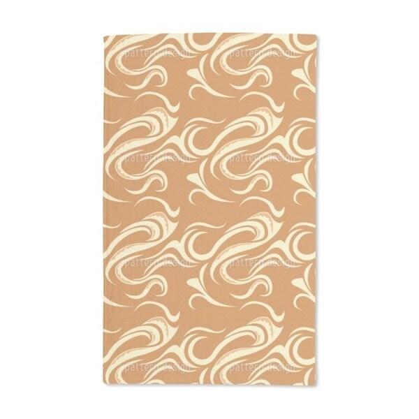 Paikea Orange Hand Towel (Set of 2)