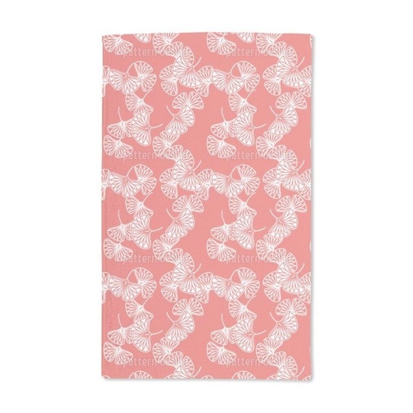 Ginkgo Red Hand Towel (Set of 2)