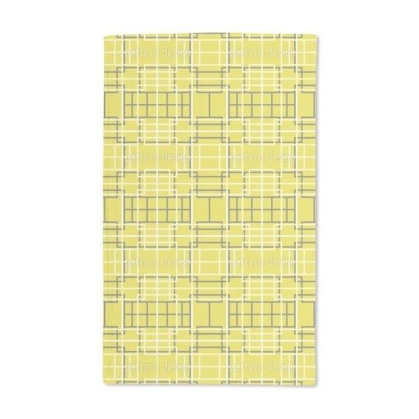Asian Lattice Yellow Hand Towel (Set of 2)