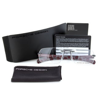 Porsche Design P8202 D Eyeglass Frames in Black/Burgundy size 58mm