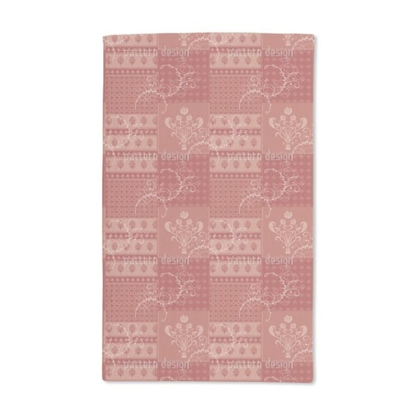 Symphony Floral Red Hand Towel (Set of 2)