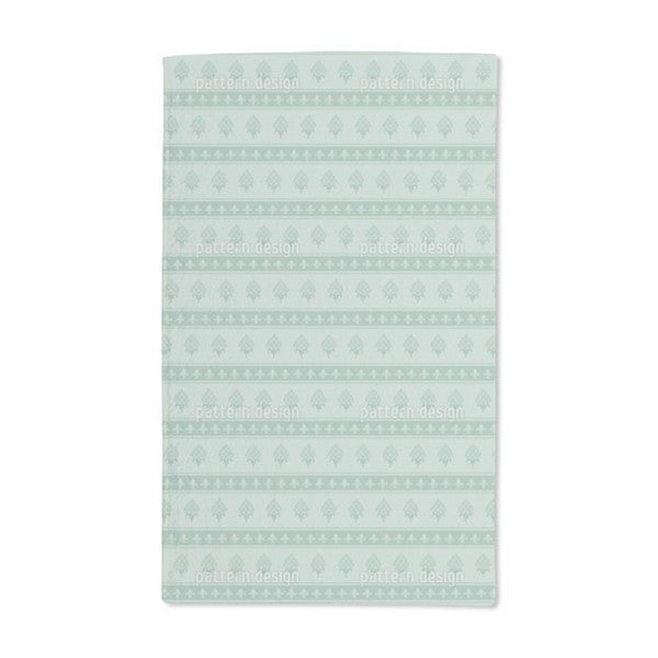 The Bourbon Lily Mint Hand Towel (Set of 2)