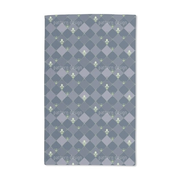 Checkerboard Flowers Hand Towel (Set of 2)