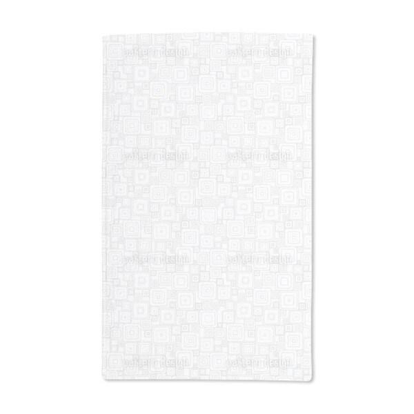 Grey Squares Hand Towel (Set of 2)