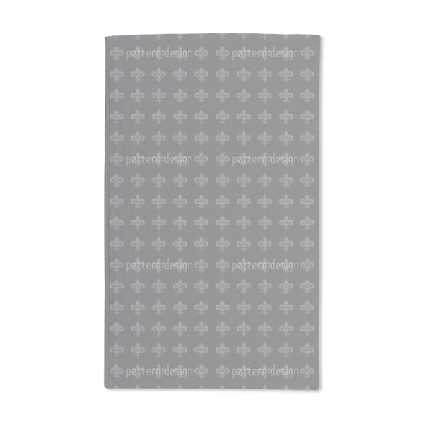 Shop Fleur De Lis Grey Hand Towel Set Of 2 Free Shipping Today