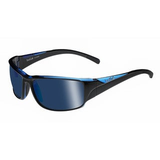 Bolle Keelback Sunglasses, Shiny Black/ Blue Translucent