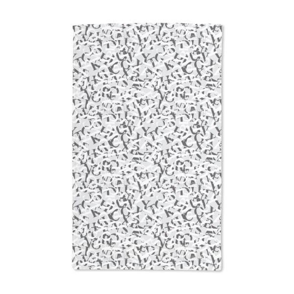 Perpetua Black and White Hand Towel (Set of 2)