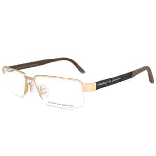 Porsche Design P8224 B Eyeglasses Frame in Gold/Dark Carbon/Brown Size 55mm