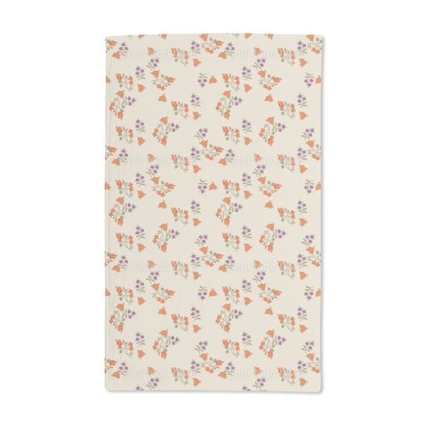 Mille Fleurs on Beige Hand Towel (Set of 2)