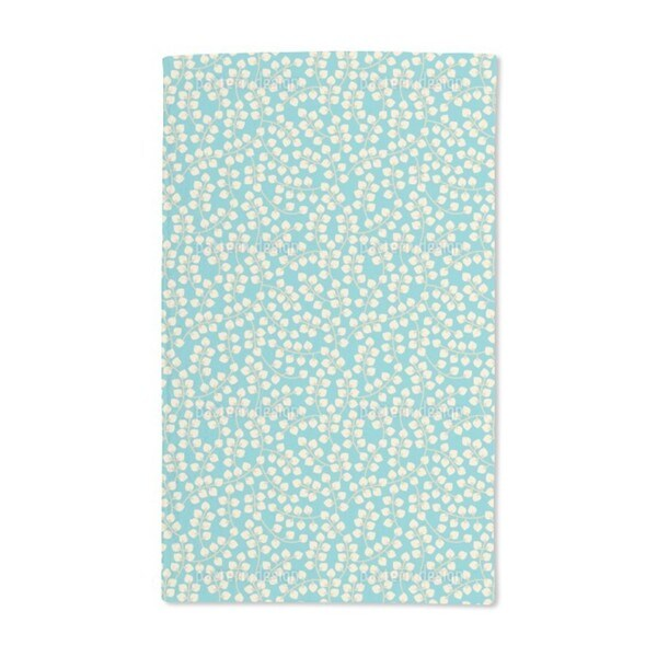 Blue With Yellow Branches Hand Towel (Set of 2)