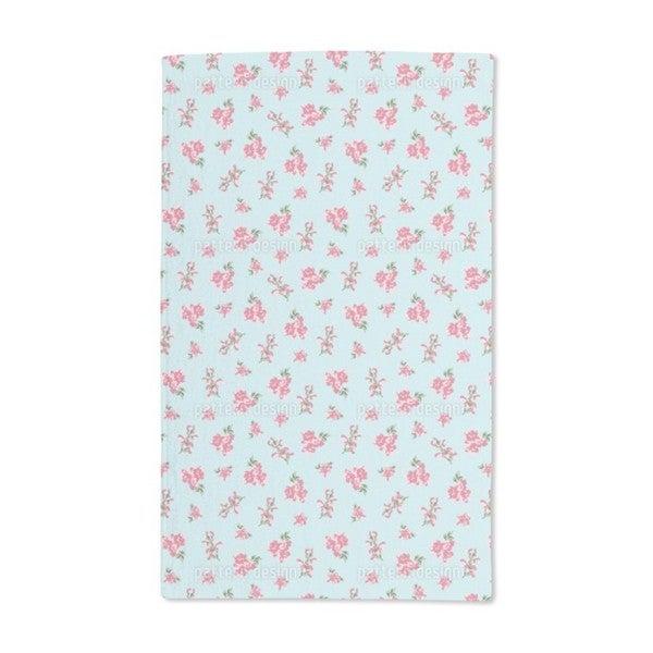 Garden Romance in Heavenly Blue Hand Towel (Set of 2)