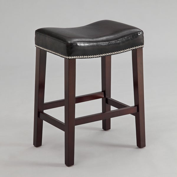 25 8 Quot Nadia Black Saddle Stool Set Of 2 Free Shipping