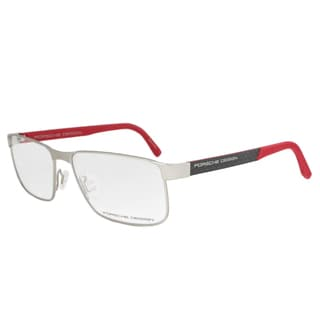 Porsche Design P8222 B Eyeglasses Frame in Palladium/Red Size 58mm