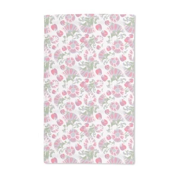 Geometric Summer Flowers Hand Towel (Set of 2)