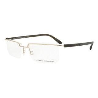 Porsche Design P8227 B Gold and Dark Brown Eyeglasses Frame Size 56