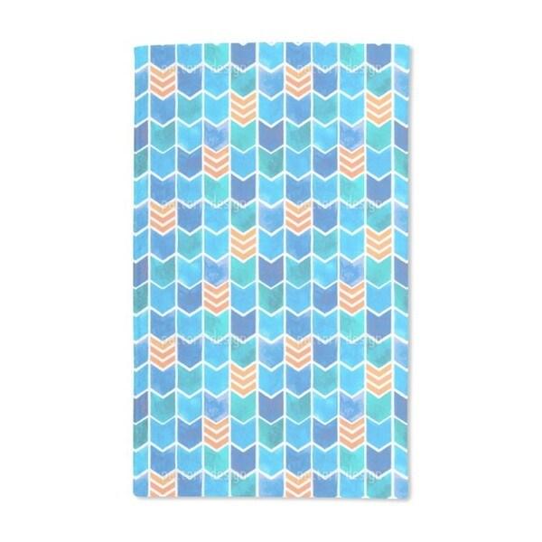 Water Color Zigzag Hand Towel (Set of 2)