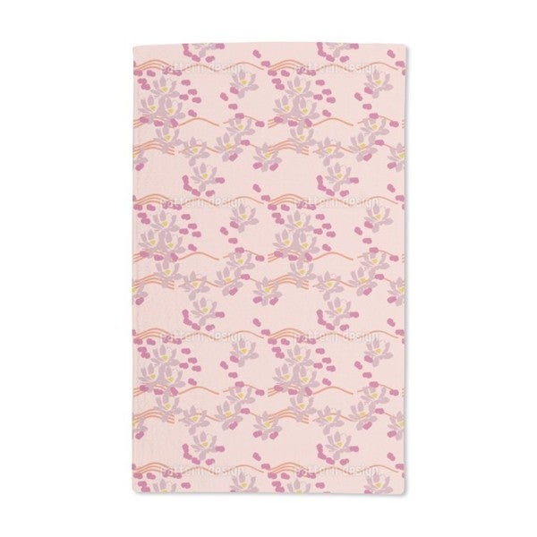 Lotus Love Pink Hand Towel (Set of 2)