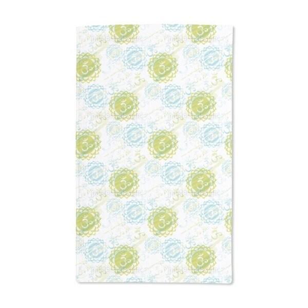 Om Green Hand Towel (Set of 2)