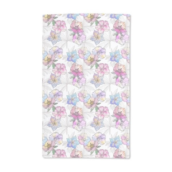 Flora Loves Water and Color Hand Towel (Set of 2)