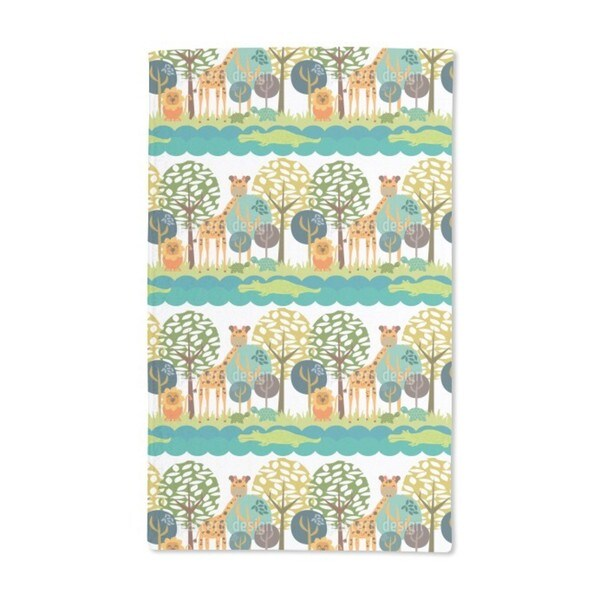 African Safari Club Hand Towel (Set of 2)