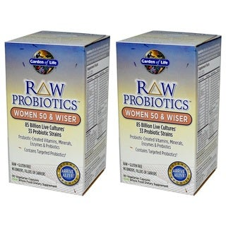 Garden of Life RAW Probiotics Women 50 and Wiser (90 Veggie Caps)