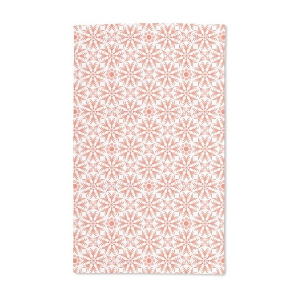Orange Flowers Hand Towel (Set of 2)