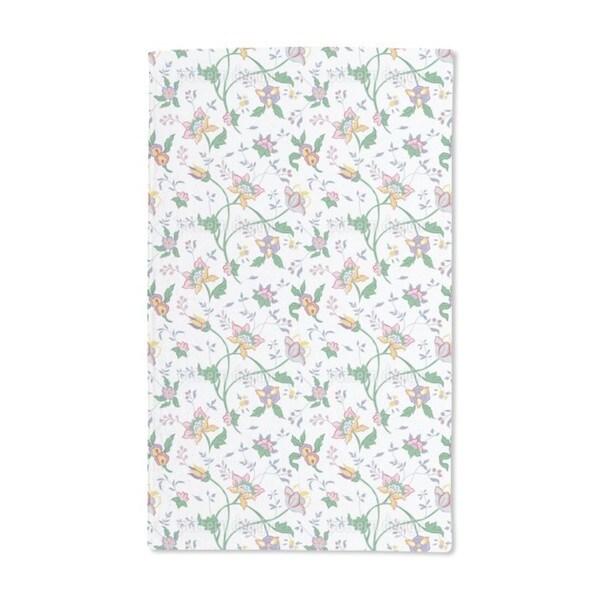 Little Flower Fantasy White Hand Towel (Set of 2)